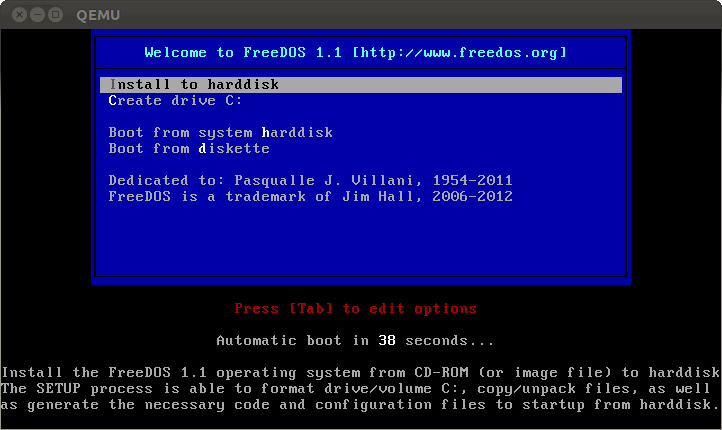 freedos usb